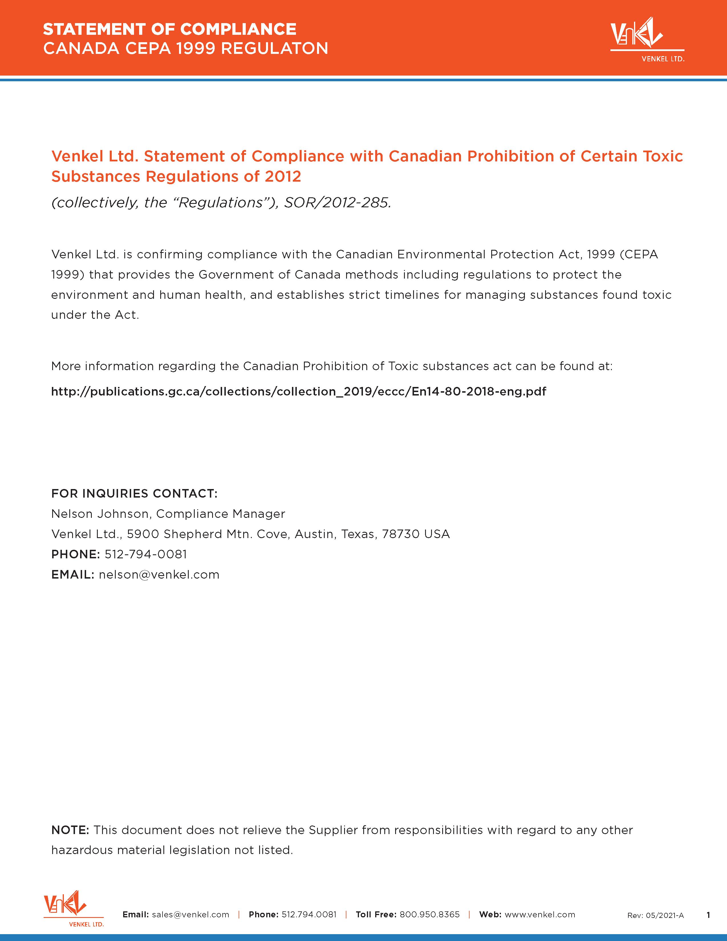 CEPA Statement